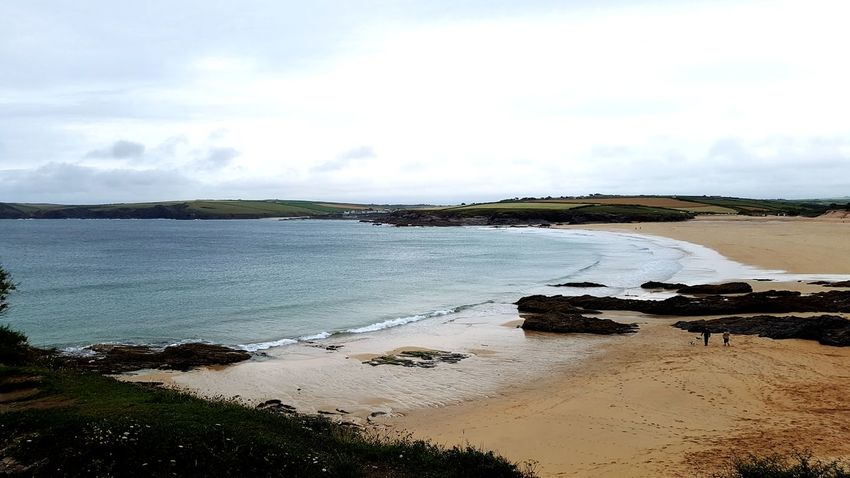 Harlyn Bay Beach View From The Top Evening Walk Watch Out For Jelly Fish Cornish Coast Cornwall Ocean
