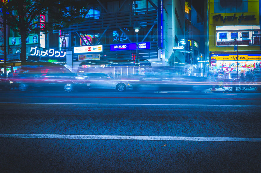 Cityscape Cyberpunk Futuristic Japan Lights Motion Blur Moving Shibuyascapes Tech The Creative - 2018 EyeEm Awards The Street Photographer - 2018 EyeEm Awards Tokyo Architecture Atmospheric Mood Blue Blur Blurred Motion Building Exterior Built Structure Car City City Life City Street Illuminated Land Vehicle Marking Mode Of Transportation Mood Motion Motor Vehicle Neo Tokyo Neon Night Nightlife No People Outdoors Road Road Marking Sign Speed Street Technology Transportation Urban HUAWEI Photo Award: After Dark