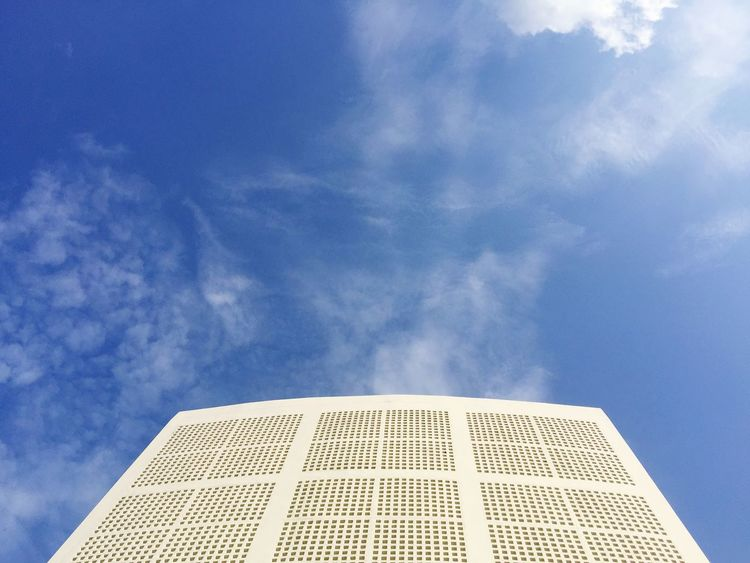 Sky Cloud - Sky Low Angle View Blue Architecture Built Structure Pattern Building Exterior No People Nature Outdoors Day Building Copy Space High Section Design Dome Geometric Shape Travel Destinations Shape