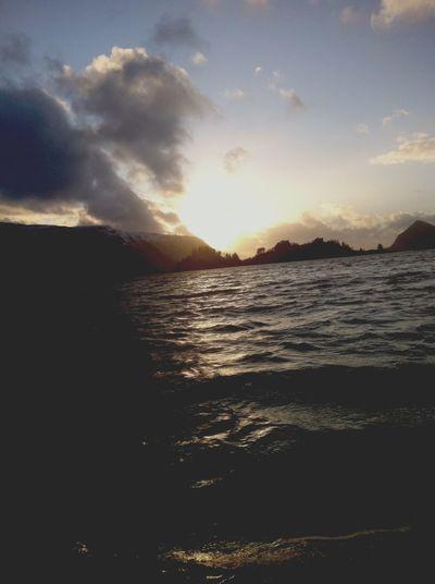 A beautiful sundown in Norway 😍