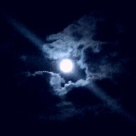 Bluemoon Moon Beautiful Moonlight Eauclaire Wisconsin Beautifulmoon