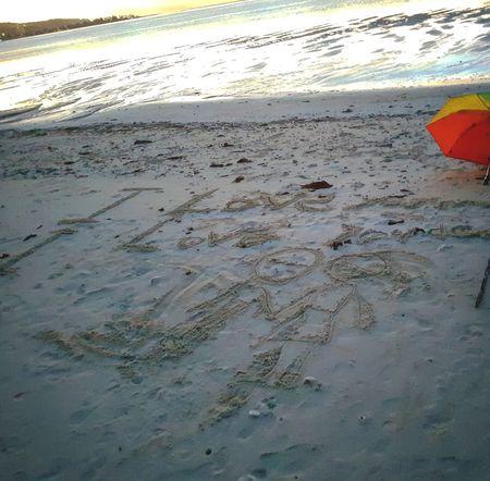 Sand Beach Lowtide At Sunset Sandpeople Kids Doodle Guamsunset Island Life