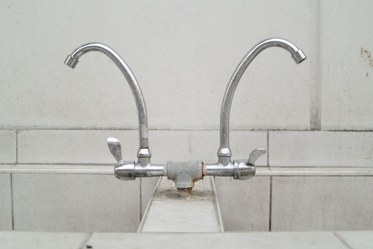 Faucets Over Sink In Temple