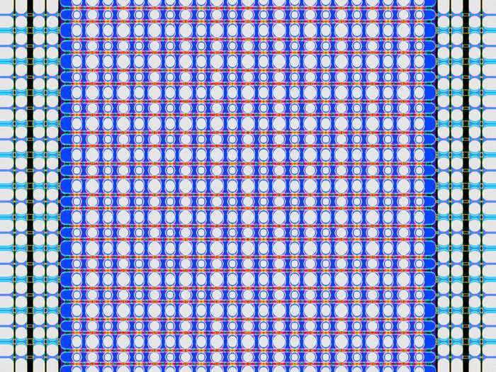 Full frame shot of blue paper