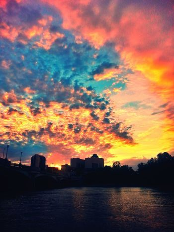 Sunset Urban Skyline Cloud - Sky Sky Outdoors City Multi Colored Cityscape No People Landscape Illuminated New To Photography Rate Me EyeEm Nature Lover PhonePhotography Backgrounds Winnipeg, Manitoba Canada