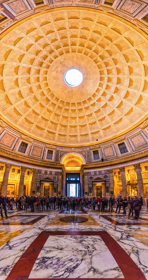 Pantheon, Rome. Agrippa Empire Panorama Pantheon Rome Skylight Travel Architecture Built Structure Ceiling Colorful Cupola Design Dome History Indoors  Interior Italian Italy Low Angle View Marble Monument Roman Travel Destinations Urban