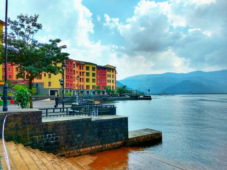 Lavasa City Pune Lavasa Landscape_Collection Colourful Architecture Mobilephotography Pune Puneinstagrammers Puneclickarts Punediaries Puneshades Punephotographylovers Punevibes