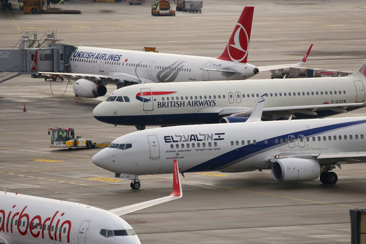 British Airways München Turkish Airlines Aerospace Industry Air Berlin Air Vehicle Airplane Airport Airport Runway Commercial Airplane Day El Al Mode Of Transportation Public Transportation Transportation Travel