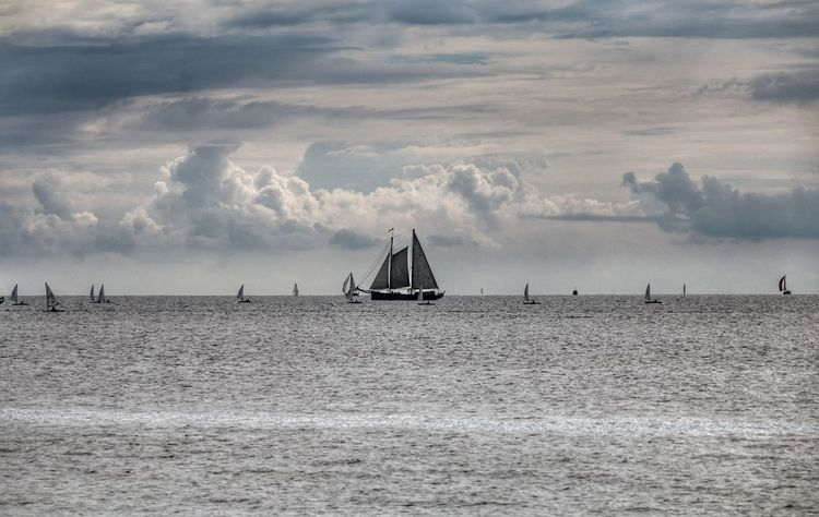 Sky And Clouds Near The Sea Water Day Sailboat Ship Outdoors Sailing Horizon Over Water Nature Sailing Ship Moment Beauty In Nature Beaut Sailing Ships Been There.