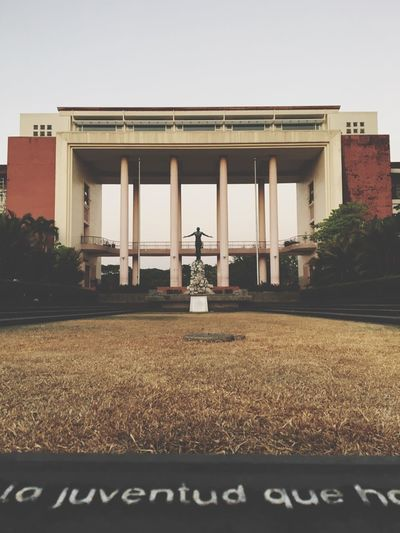 The Architect - 2016 EyeEm Awards University Of The Philippines Quezon Hall The Oblation Oblation Up State University Alma Mater When In Manila Eyeem Philippines Mobile Photography IPhoneography
