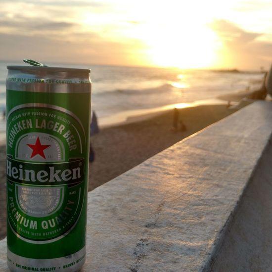 Heineken Sea Sunset Sunlight Travel Destinations Beach Nature Outdoors Vacations Close-up Drink No People Sunbeam Water Mint Tea Day Love Salvador Sun_collection Dimalima Seuarcoirismeusorriso Sunset_collection