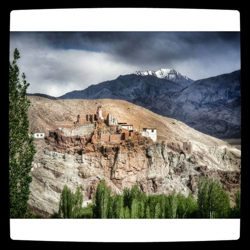 One of the Monastery on the way to Leh Ladakh Mountain Hills Snow Cloudy Nature Tourism Jnk Jammu Kashmir Incredibleindia Indiapictures Indiatraveller Lonelyplanetindia Nationalgeographic Travel Paradise Landscape Belief Buddhist Temple India Roadtrip adventure himalaya Himalayas