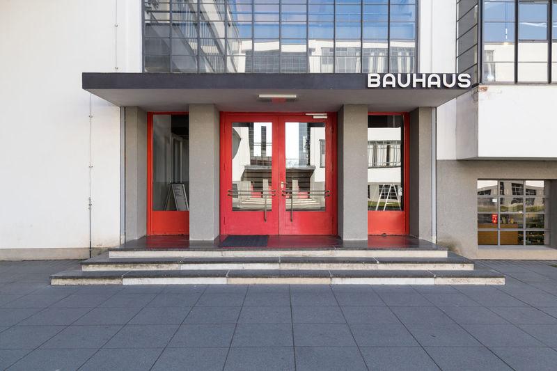 Bauhaus Dessau Architecture Entrance Museum Germany