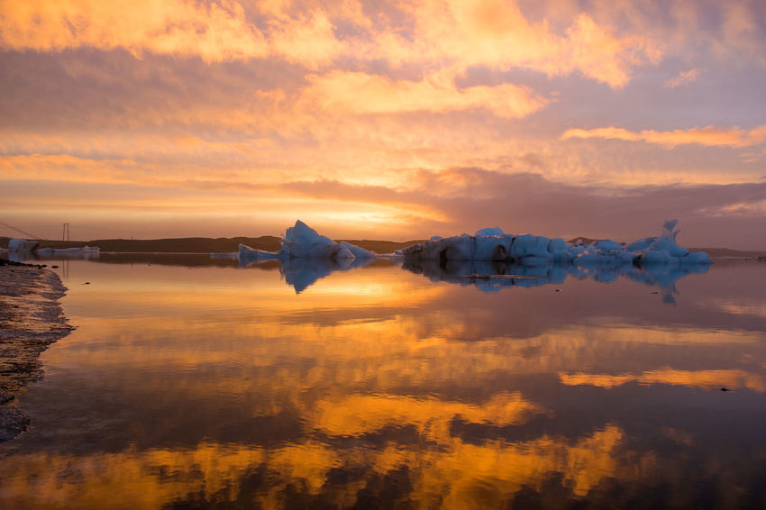 Iceland Iceland Memories Iceland Landscape Scandinavia Twilight Beauty In Nature Cloud - Sky Clouds Great Landscape Horizon Over Water Iceberg Iceland Trip Iceland_collection Icelandic Landscapes Nature No People Reflection Ring Road Scenics Sky Sunset Water