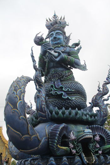 Thailand Thailand_allshots Thailandtravel Thailand Photos Thailand🇹🇭 Temple - Building Templephotography Buddhism Buddhist Temple BUDDHISM IS LOVE Chiang Mai | Thailand Chiangmai Chiang Mai Thailand Art And Craft Sculpture Representation Statue Creativity Human Representation Belief Spirituality Religion No People Low Angle View Day Male Likeness Craft Place Of Worship Architecture Sky Demon - Fictional Character Ornate