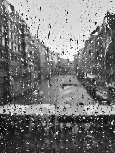 Macro Photography Rain Rainy Days Black And White Blackandwhite Car City Drop Full Frame Glass Glass - Material Indoors  Macro Nature No People Rain RainDrop Rainy Season Transparent Water Wet Window
