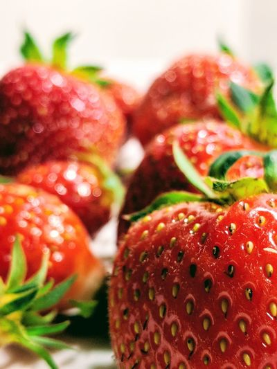 Fresh strawberries Strawberries Fruit Red Strawberry Close-up Food And Drink Ripe Farmer Market Berry Fruit