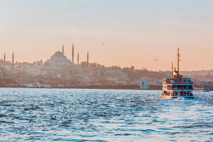 Istanbul Sunset Dusk Sky Nautical Vessel Outdoors Water Cityscape Ship Sea Tranquility Landscape Travel Destinations Day No People Nature Urban Skyline Scenics Architecture Politics And Government