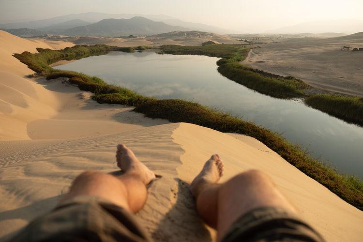 Peru Peruvian Wonderful Desert Desert Landscape Arid Climate Arid Landscape Dunes Sand Dune Sand Lagoon Lake Oasis Oasis In The Desert Outdoors Laguna Laguna Moron Moron Pisco