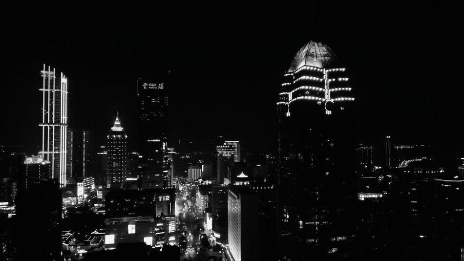 Night Illuminated Skyscraper Cityscape Urban Skyline City No People Outdoors Sky Architecture Building Exterior