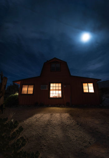 Architecture Bright Moon Building Exterior Built Structure Cloud - Sky Exterior Façade Full Moon Horror Hounted House Illuminated Light Show Moon Night Night Sky No People Outdoors Sky Spooky Spooky Atmosphere Spooky House Wide Angle Window