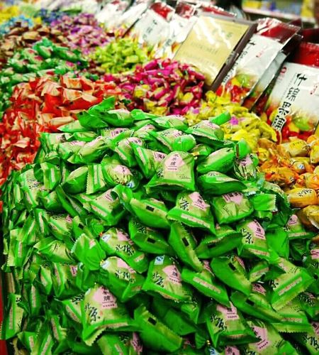 Bright Colors Candy Candyshop Chinese Beijing Peking  China Green No People Convenient Store