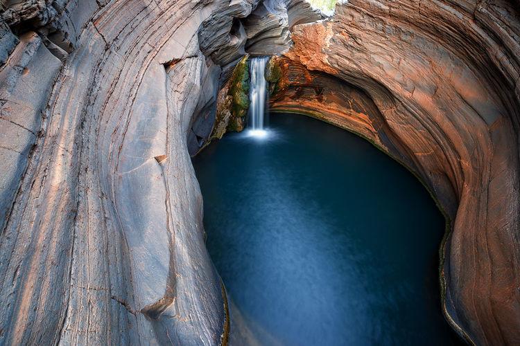 View of waterfall in karijini nationalpark, australia