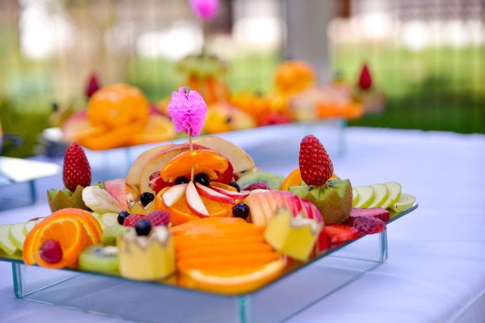 Decoration Event Fruit Fruit Salad FRUIT SALAD!! YUMMY YUMMY  Glass Kiwi Orange Party Strawberry
