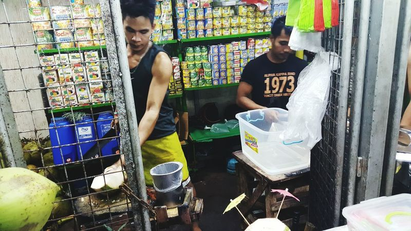 Public Market View Buko Coconut Hanging Out Mood Of The Day Relaxing Casual Clothing Suburban Check This Out Philippines Photos