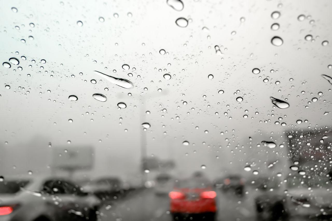 drop, water, wet, rain, close-up, no people, car, nature, transparent, raindrop, land vehicle, focus on foreground, glass - material, motor vehicle, indoors, rainy season, window, mode of transportation, purity