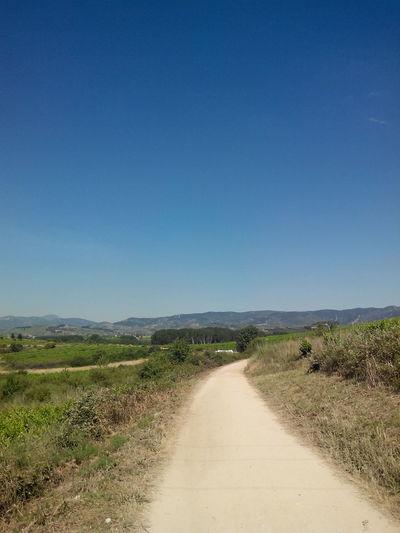 Blue Sky Camino CaminodeSantiago El Camino De Santiago Himmel Jakobsweg Pilgern Pilgrimage Sky Way Weg Wege Und Strassen