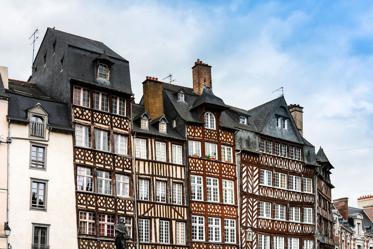 Apartment Architecture Building Building Exterior Built Structure City Cloud - Sky Day House Low Angle View Nature No People Old Outdoors Residential District Roof Row House Sky The Past Town Townhouse Window
