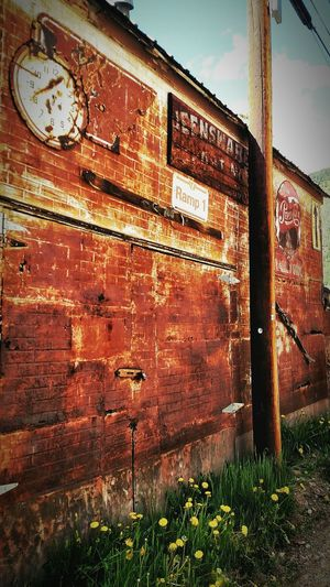 Alley Photography AlleyShots Silverton, Colorado Brick Wall Vintage Signs Cell Phone Photography