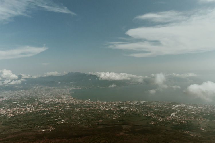 View from Vesuvio Volcano, Italy Cloud - Sky Sky Scenics - Nature Beauty In Nature Environment Tranquility Landscape Nature Day Tranquil Scene No People Aerial View Outdoors Land Architecture City Water Sea Mountain Cityscape Volcano Vesuvio