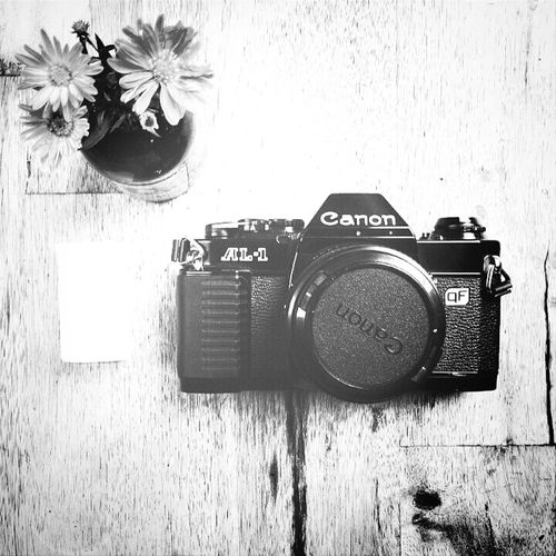 MY first film camera. Canon CanonAT1 Black & White