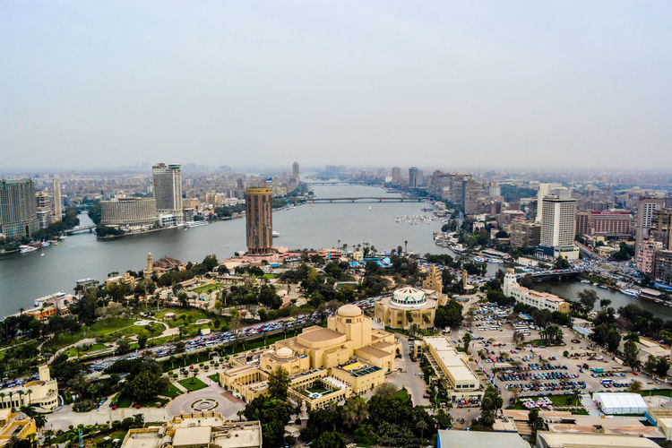 High Angle View Of Cairo