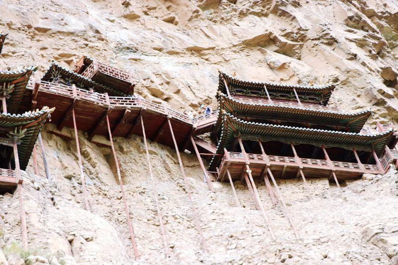 山西懸空寺 Chinese Kungfu Temple Built Structure Architecture No People High Angle View Nature Building Exterior First Eyeem Photo