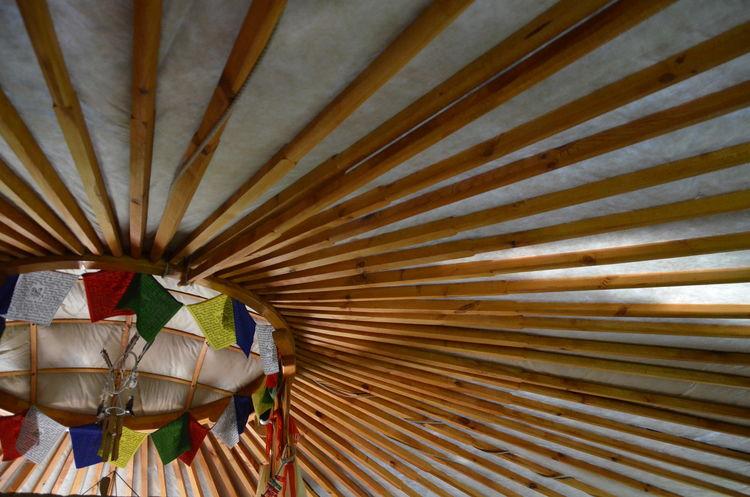 Buddhist Flag Ceiling Design Geometry Home Interior Indoors  Jurta Tent Wall