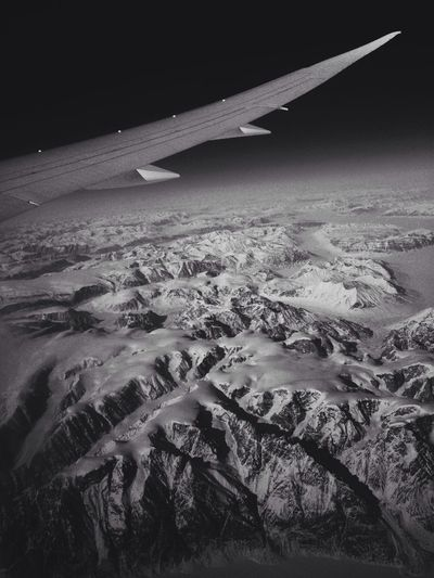 That time I went to the moon. Hello World From An Airplane Window