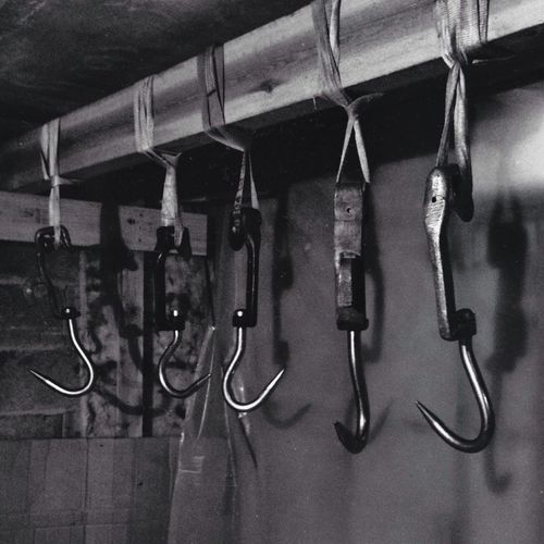A visit to the Scary Butcher in Blackandwhite
