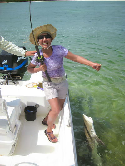 Fishing shark Day Fisherman Fishing Fishing Boat Fishing Shark Fishing Time Key West Leisure Activity Lifestyles Nature Outdoors Shark USA Vacations Water