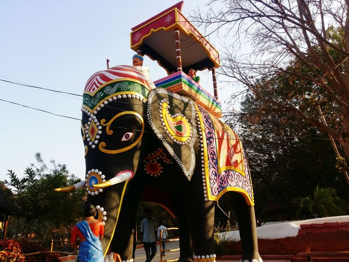 Man Made Structure Outdoors Elephant Trekking Elephant Art Elephant Statue Mobile Phone Photography Photography Colors EyeEm EyeEm Best Shots Eyeem India