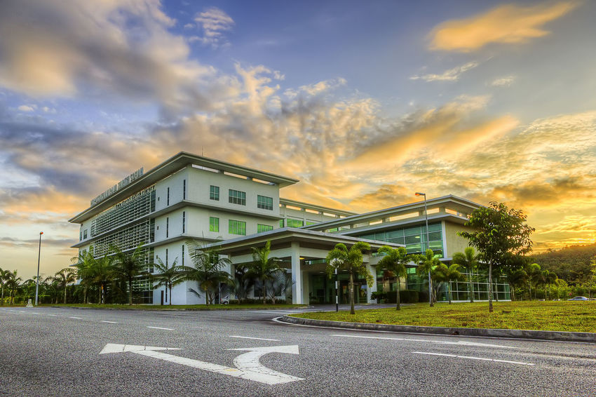 Architecture Building Exterior Business Finance And Industry City Cityscape Day Library Modern No People Outdoors Sky Universiti Teknologi Malaysia